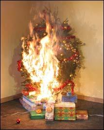 prevencin de incendio por rbol de navidad